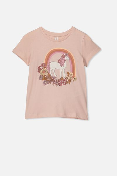 Penelope Short Sleeve Tee, PEACH WHIP/UNICORN MANE/MAX