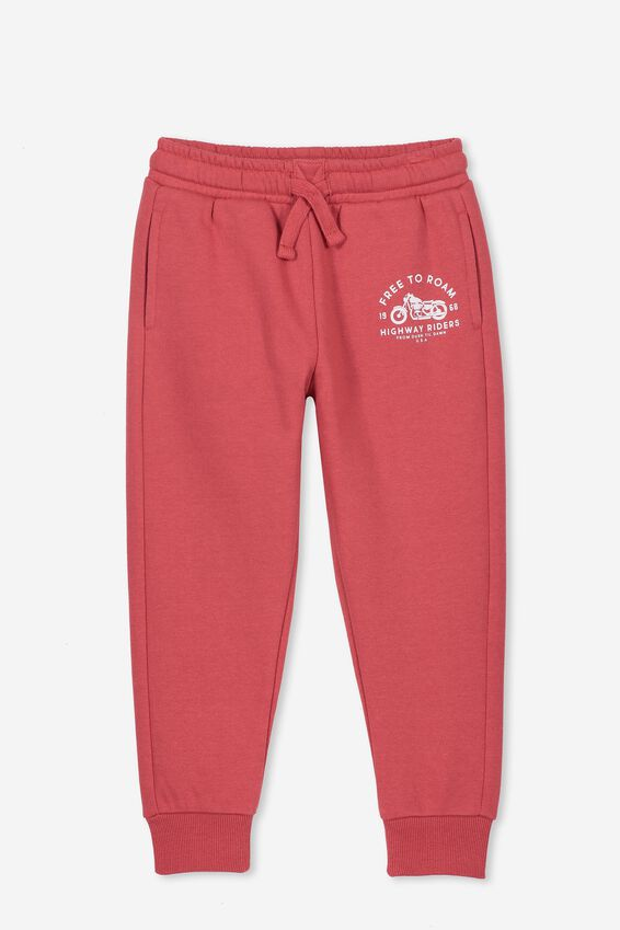 Lewis Trackpant, AURORA RED/FREE TO ROAM
