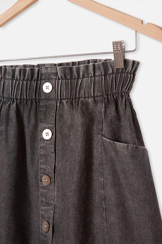 Ava Skirt, BLACK WASH