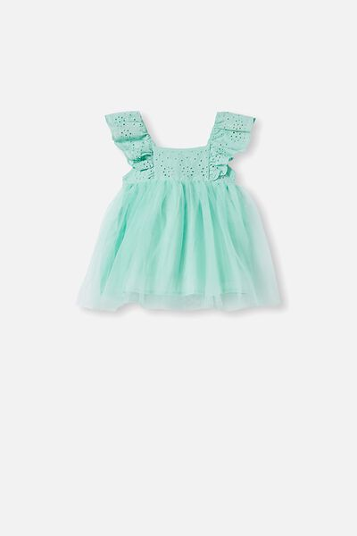 Evie Tulle Dress, MINTY BREEZE