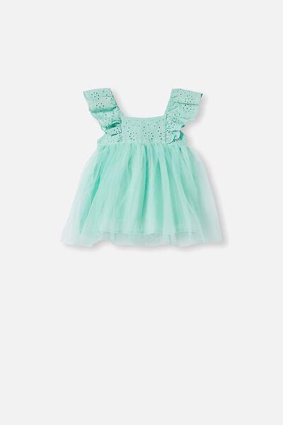Evie Tulle Dress, MINTY BREEZE