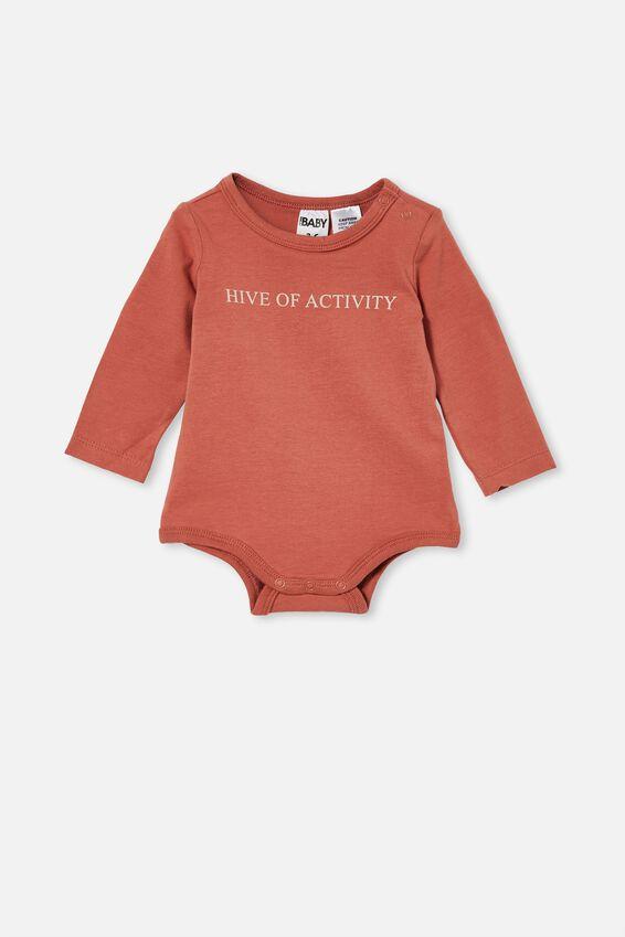 The Long Sleeve Bubbysuit, CHUTNEY/HIVE OF ACTIVITY