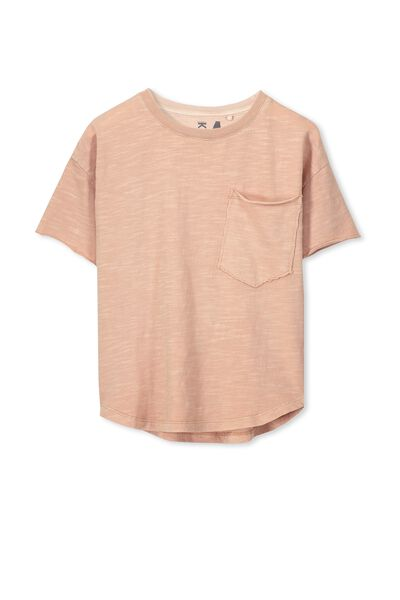 Anthony Active Ss Tee, WASHED CLAY
