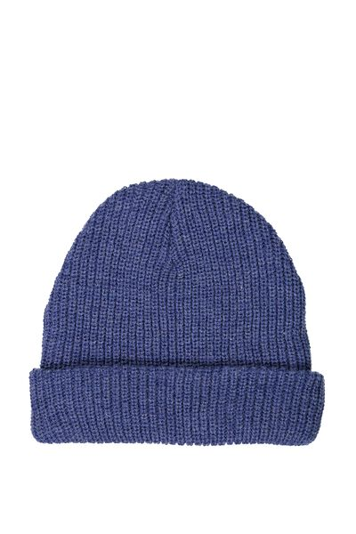 Marcus  Beanie, BLUE/RED MARLE