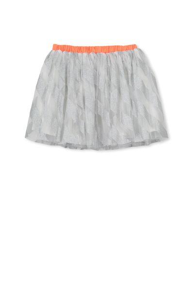Trixiebelle Tulle Skirt, IRIDESCENT/DIAGONAL STRIPE
