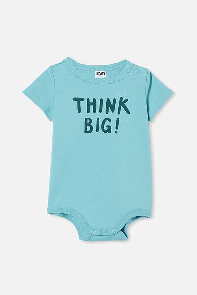The Short Sleeve Bubbysuit, BLUE ICE/THINK BIG