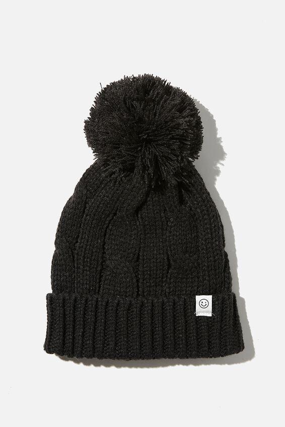 Winter Knit Beanie, PHANTOM