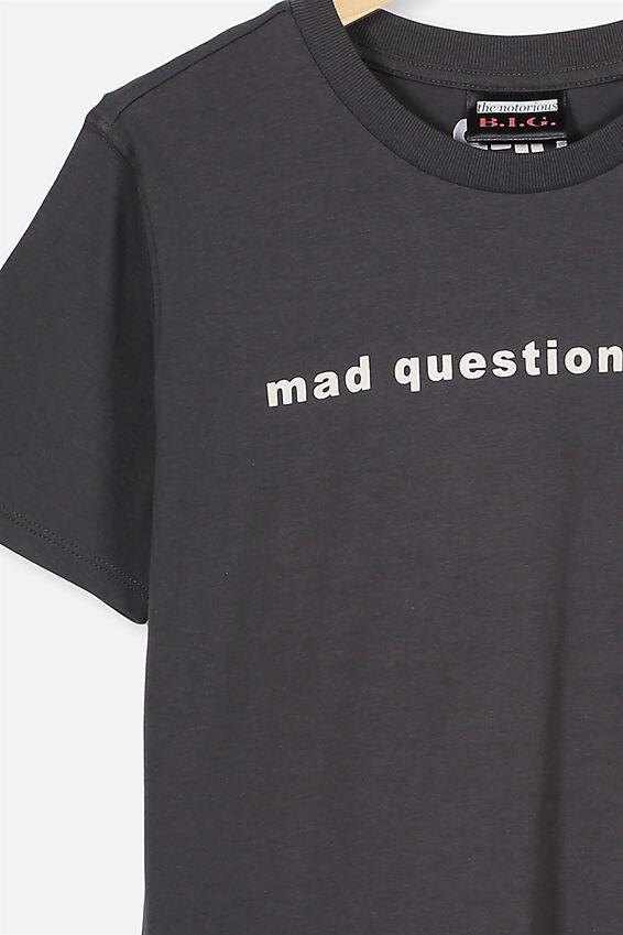 Co-Lab Short Sleeve Tee, LCN MT BIGGIE PHANTOM MAD QUESTION ASKING