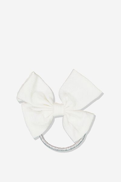 Bow Hair Tie, VANILLA