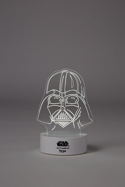 Awesome Etching Light, WHITE DARTH VADER