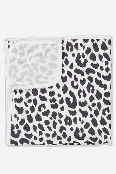 The Baby Blanket, WHITE/OCELOT PRINT