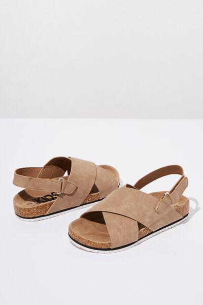 Trent Footbed Sandal, TAN