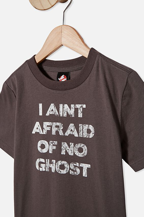 Co-Lab Short Sleeve Tee, LCN SON I AINT AFRAID OF NO GHOST/IRON GREY