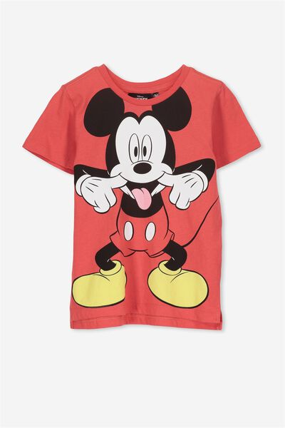 Short Sleeve License Tee, CAYENNE/CHEEKY MICKEY MOUSE