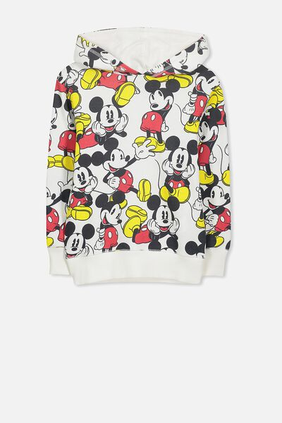 License Hoodie, VANILLA/CLASSIC MICKEY YARDAGE