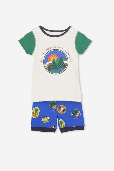 Joshua Short Sleeve Pyjama Set, CAMPING