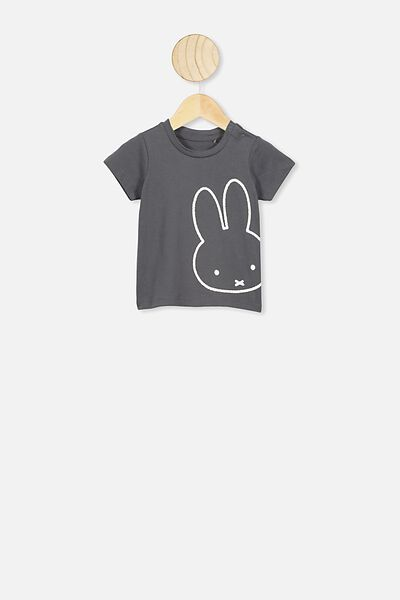 Jamie Short Sleeve Tee, LCN MIF RABBIT GREY/MIFFY