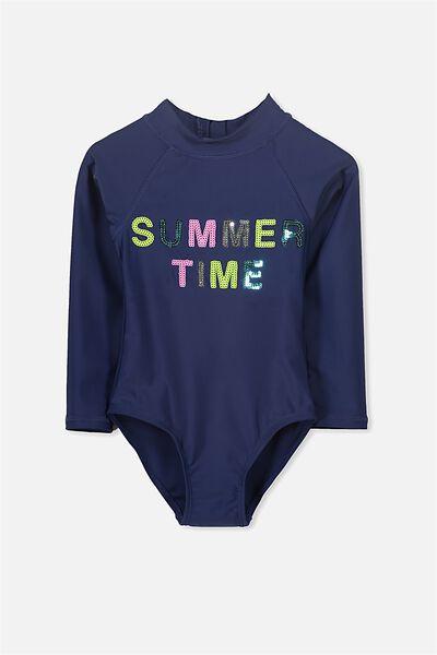 Lydia Rashie Swimsuit, PEACOAT/SUMMER TIME