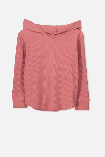 Hayden Hooded Top, RUSTY BLUSH