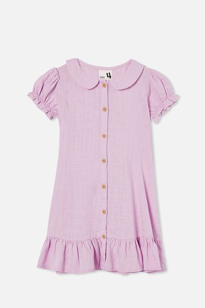 Evelyn Short Sleeve Dress, PALE VIOLET