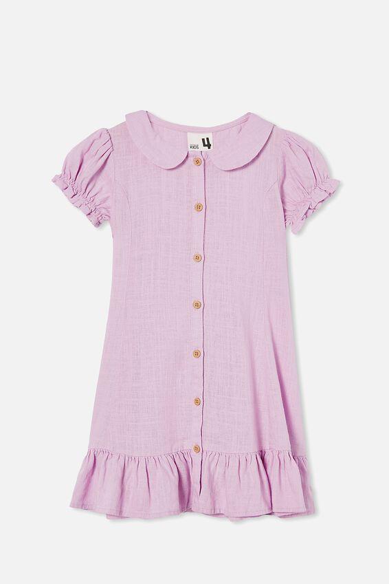 Evelyn Short Sleeve Dress, PALE VIOLET