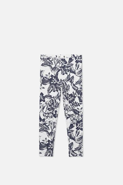 Huggie Tights, SUMMER GREY MARLE/TROPICAL FLORAL