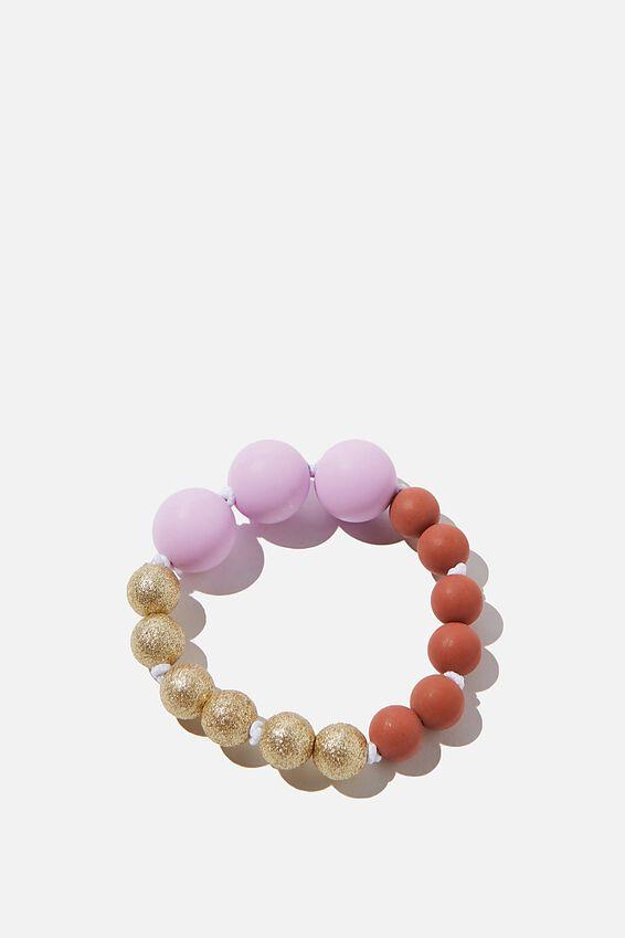 Mixed Beaded Bracelet, PALE VIOLET
