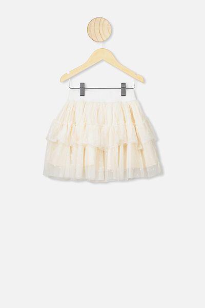 Trixiebelle Tulle Skirt, DARK VANILLA/SPARKLE STARS
