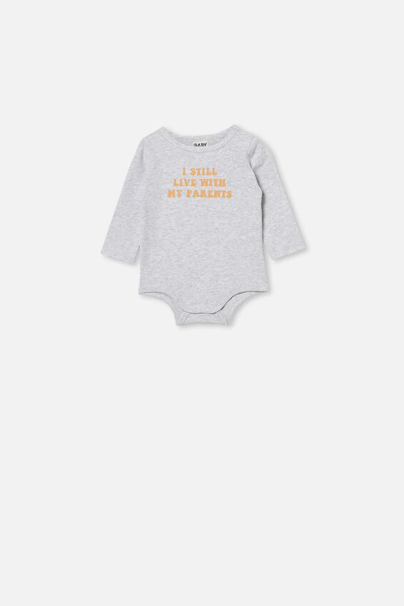 The Long Sleeve Bubbysuit, CLOUD MARLE/STILL LIVE WITH MY PARENTS