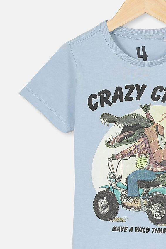 Max Short Sleeve Tee, WHITE WATER BLUE/CRAZY CROC