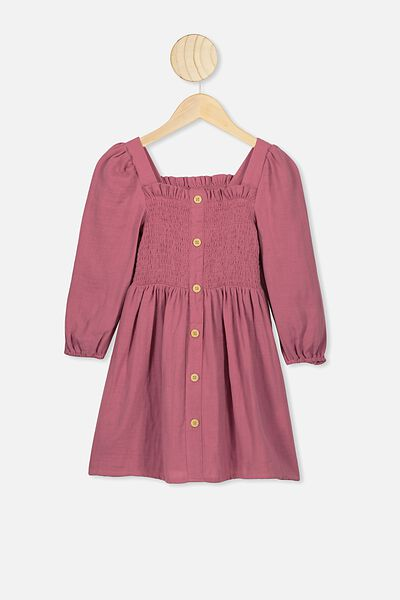 Lindsay Long Sleeve Dress, VERY BERRY
