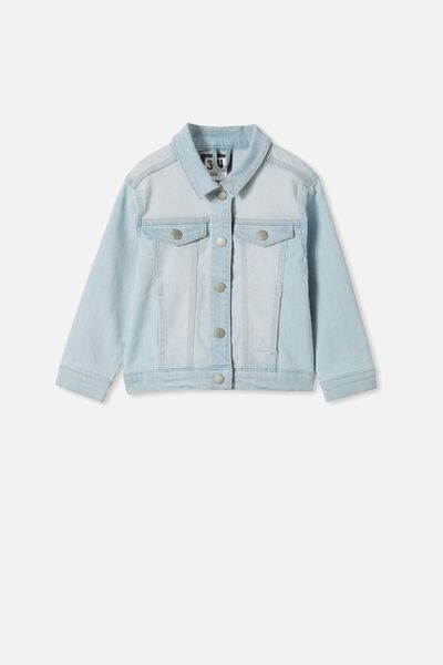 Daisy Denim Jacket, BLEACH WASH