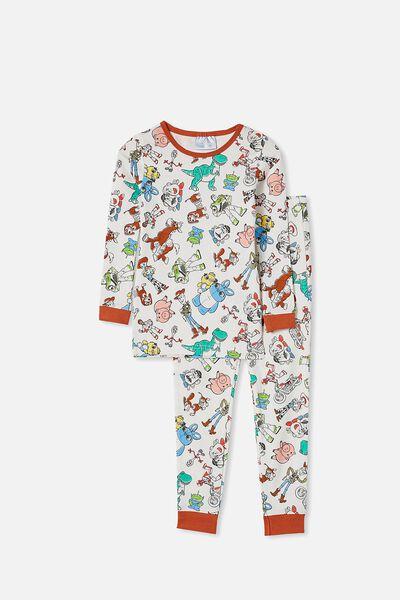 Orlando Long Sleeve Pyjama Set, LCN DIS TOYSTORY 4 VANILLA