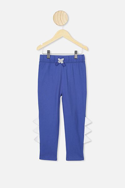 Brooklyn Slouch Pant, SCUBA BLUE/MONSTER TEETH