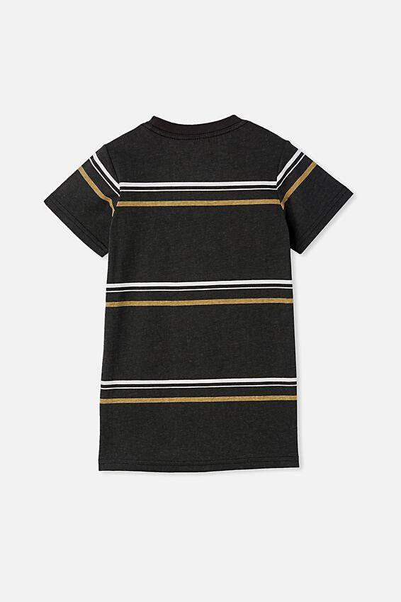 The Cruz Short Sleeve Long Line Tee Stripe, PHANTOM / DARK VANILLA NEVER TIRED