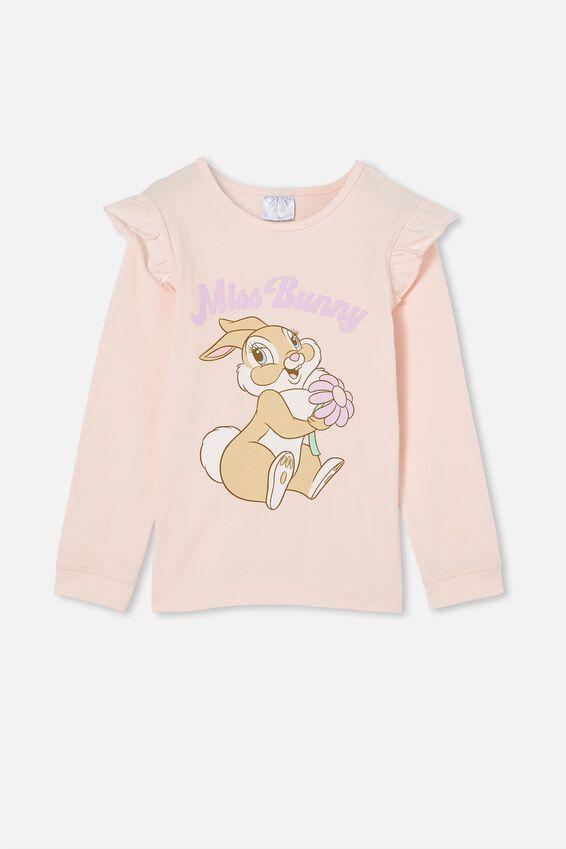 Florence Long Sleeve Pyjama Set Licensed, LCN DIS MISS BUNNY/CRYSTAL PINK