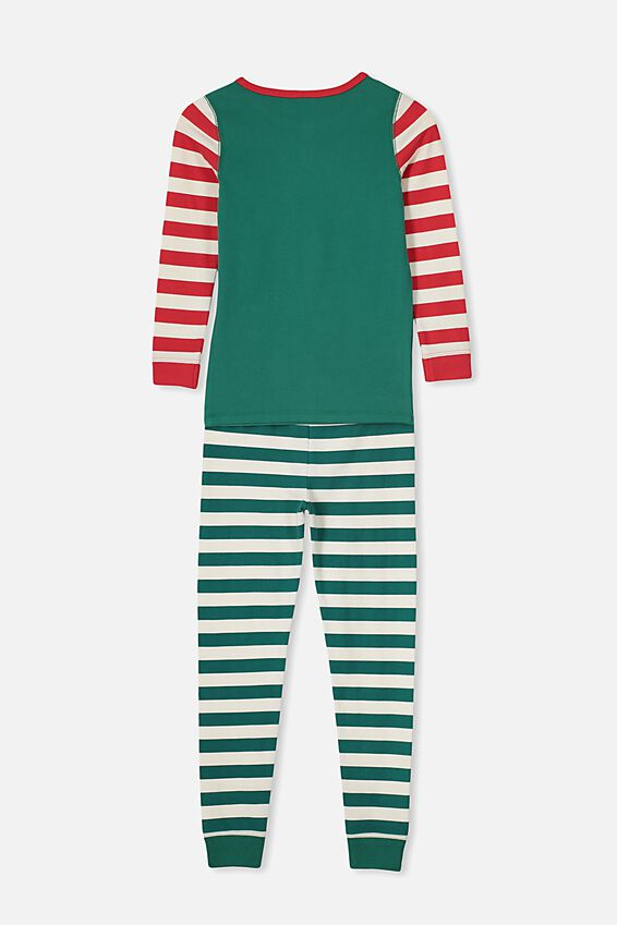 Personalised Billie Ls Unisex Pj Set, XMAS ELFIE PERSONALISED