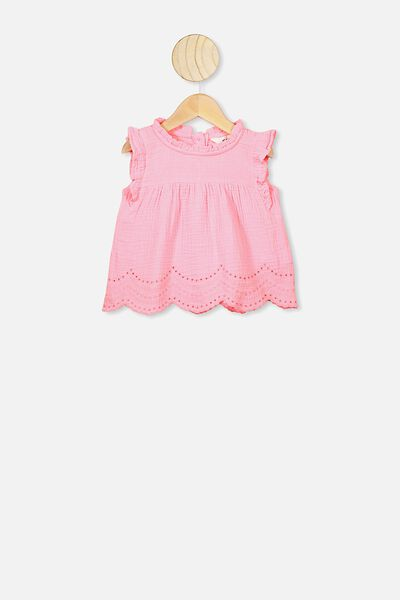 Jan Flutter Sleeve Dress, CALI PINK