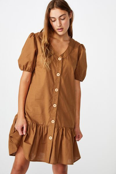 Mama Lulu Short Sleeve Dress, CARAMEL TOFFEE