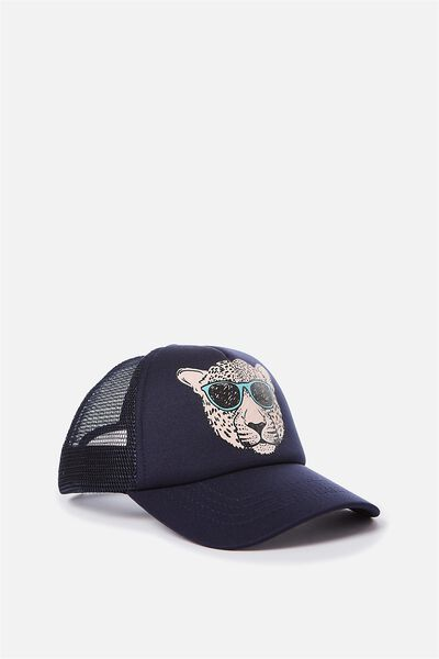 Kids Trucker Cap, LEOPARD COOL