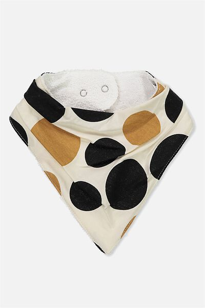 Dribble Bib, DARK VANILLA/DOG SPOT