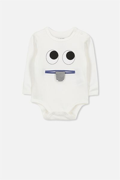 Ben Ls Bubbysuit, VANILLA/ZIP MOUTH
