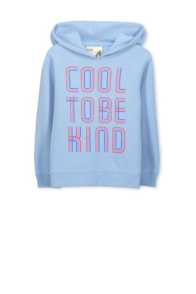 Scarlett Set In Sleeve Hoodie, POWDER BLUE/COOL TO BE KIND