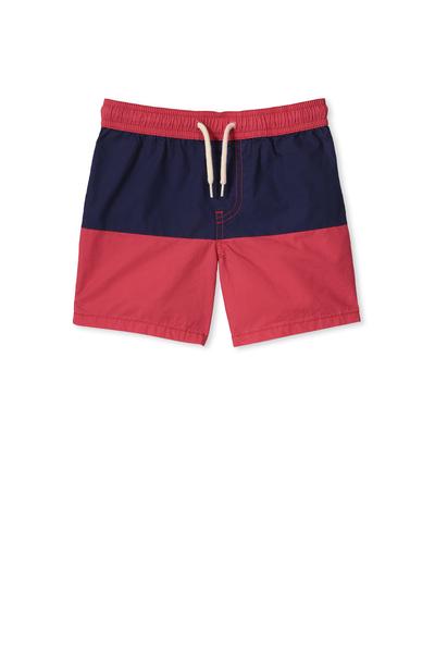 Murphy Swim Short, KETCHUP/PEACOAT PANEL