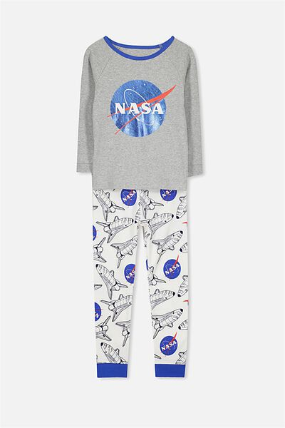 Billie Long Sleeve Raglan Pyjama Set, LCN NASA SPACESHIP