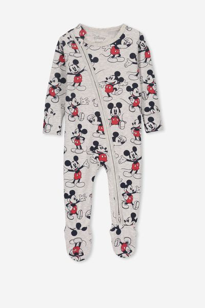 License Snug Zip Through All In One, LCN DIS CLOUD MARLE/MICKEY MOUSE