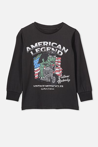 Tom Long Sleeve Tee, PHANTOM/AMERICAN LEGEND