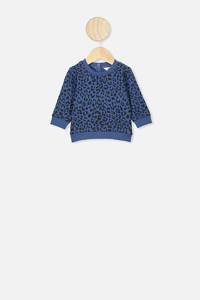 Bobbi Sweater, PETTY BLUE SUMMER OCELOT