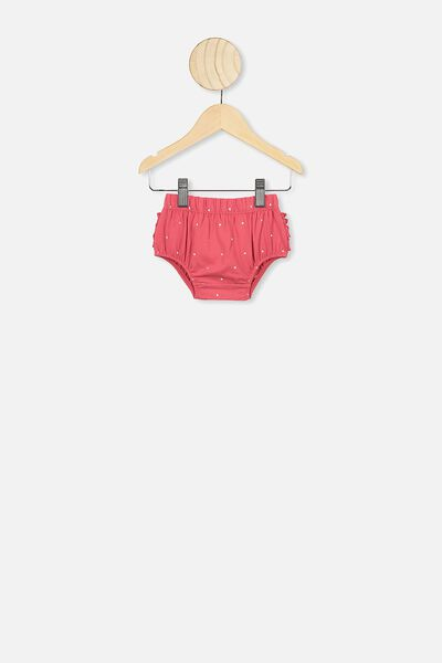 Stella Ruffle Bloomers, LUCKY RED/FOIL SPOT