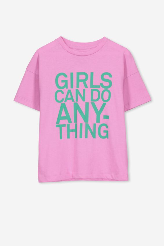 Penelope Ss Loose Fit Tee, FUSCHIA PINK/ANYTHING